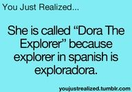 Yeah they even say that in the song?  Something like do do do dodo Exploradora idk