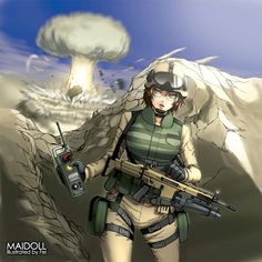 Comic Pictures, Manga Pictures, Pictures To Draw, Anime Military, Military Girl, Kawaii Anime Girl, Anime Art Girl, Military Archives, Anime Warrior