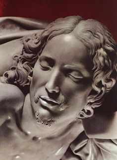 sculptures of Michelangelo - head of the dead Christ from the Pietà - 1499