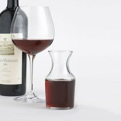 """Individual Wine Decanter (Set of 4) by Wine Enthusiast. $19.95. 761 30 Features: -Wine decanter.-Machine made lead free glass.-Dishwasher safe.-Capacity: 6 oz.. Dimensions: -Overall dimensions: 4.88"""" H x 2.75"""" Dia."""