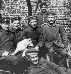 1914 Hitler, sitting on the right.
