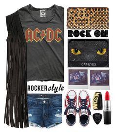 """ROCK ON"" by karineminzonwilson ❤ liked on Polyvore featuring Christian Louboutin, MAC Cosmetics, Converse, 3x1, Glamorous, Moschino, rockerchic and rockerstyle"