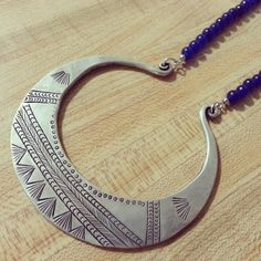 Large Tribal Beaded Soul Lock Necklace via TGXC. Click on the image to see more!