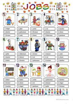 JOBS MULTIPLE CHOICE worksheet - Free ESL printable worksheets made by teachers