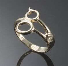 14K Gold Barber shears ring by CavalloFineJewelry on Etsy, $199.00