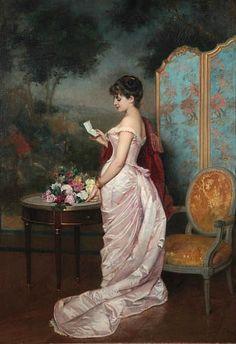 Auguste Toulmouche  The Letter 19th century