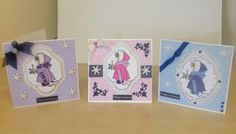 Another collection of cards made today...using the same stamp!!!!
