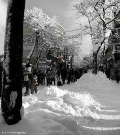 Krupowki zima. Zakopane, Poland