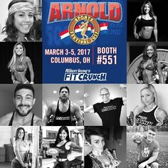 💪2017 Arnold Classic Expo is approaching! Will you be there? Stop by and see us. @arnoldsports #teamfitcrunch #fitcrunch #fitcrunchbars #arnoldclassic #fitness