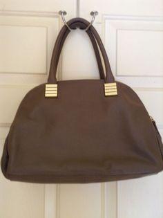 45680ea932  129.99 New Claudia Ciuti Taupe Brown Italian Leather Satchel  ClaudiaCiuti   Satchel