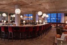 Soho House Chicago, designed by Vicky Charles. Seen in Architectural Digest.