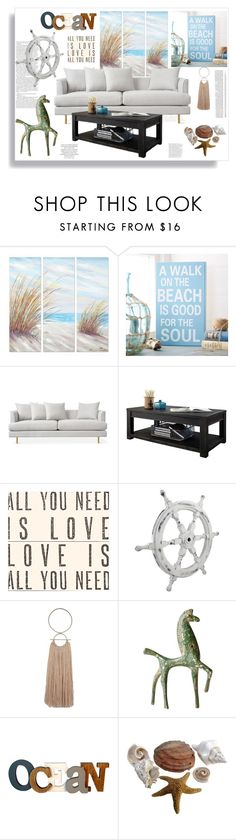 """""""Beach House"""" by ildiko-olsa ❤ liked on Polyvore featuring interior, interiors, interior design, home, home decor, interior decorating, Yosemite Home Décor, Sugarboo Designs, Wooden Ships and Magdalena"""