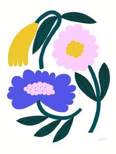 Flowerino - Lotta Maija Posca Marker, Fleur Design, Posca Art, Plant Illustration, Flower Illustration Pattern, Flower Graphic, Arte Popular, Poster Prints, Art Prints