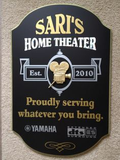 personalized custom us made 3d wood signshome theater decormovie signcinema
