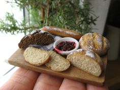 Bread and jam. Dollhouse minis