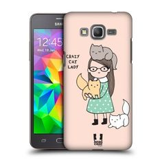 Head Case Designs Crazy Cat Lady Reasons Why I'M Single Protective Snap-on Hard Back Case Cover for Samsung Galaxy Grand Prime 3G 4G Duos LTE G530 Head Case Designs