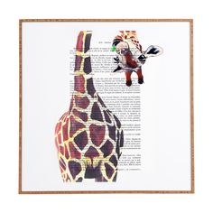 Coco de Paris Funny Giraffe Framed Wall Art | DENY Designs Home Accessories