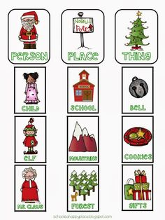 Free holiday noun sorting literacy activity