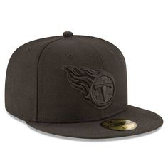 TENNESSEE TITANS BLACK ON BLACK 59FIFTY FITTED 3 quarter right view New Era  Cap 952d4dbb7