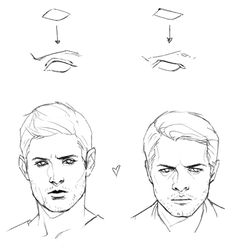 drawing dean's eyes vs cas