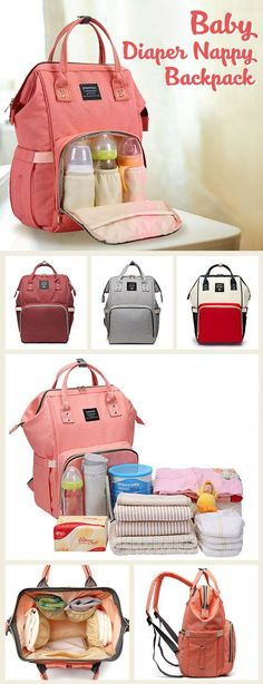 Baby Diaper Nappy Backpack Large Capacity Waterproof Nappy Changing Bag Baby Car… Baby Diaper Nappy Backpack Large Capacity Waterproof Nappy Changing Bag Baby Care Mother Organizer More from my site Best Baby Registry Checklist Baby Necessities, Baby Essentials, Travel Necessities, Nappy Backpack, Nappy Changing Bags, Changing Pad, Baby Supplies, Everything Baby, Traveling With Baby