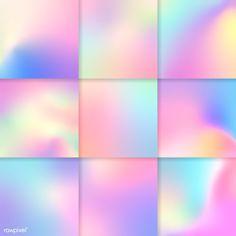 Colorful holographic gradient background design set | free image by rawpixel.com / NingZk V. Graphic Design Fonts, Graphic Design Illustration, Graphic Design Inspiration, Hologram Colors, Holographic Print, Design Set, Web Design, Music Collage, Holography