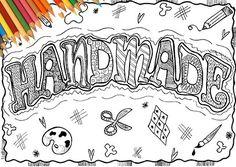Disegno Handmade parola da colorare stampabile adulti negozio