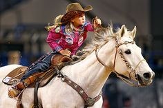 Image  5 / 34 :  Chayni Chamberlain, 9, of Stephenville, Texas in the barrel racing event aboard her horse Flo Joe during The American rodeo qualifying at AT&T Stadium in Arlington, Texas, Sunday. Tom Fox/The Dallas Morning News/AP .Photos of the weekend - The Christian Science Monitor - CSMonitor.com
