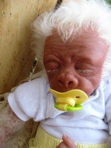 Baby Albino Gorilla | Ooak Baby Albino Gorilla Monkey ...