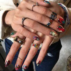 Gel Nail Art, Acrylic Nails, Nail Polish, Hair And Nails, My Nails, Hippie Nails, Finger Art, Minimalist Nails, Dream Nails