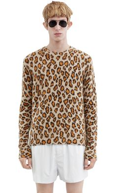 Acne · Peele hand pilled wool and cashmere blend sweater printed with a  modern leopard pattern  AcneStudios adab96d3d5b