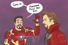 Awesome Facial Hair Bros - Tony Stark and Dr Strange