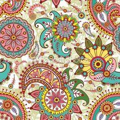 seamless pattern paisley — Vettoriali Stock © Mikhaylova #3812126