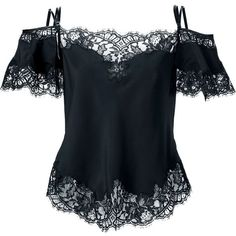 Givenchy floral lace blouse (23.880 ARS) ❤ liked on Polyvore featuring tops, blouses, shirts, givenchy, black, off the shoulder tops, spaghetti strap shirt, lace off the shoulder top, lace blouse and off the shoulder shirts