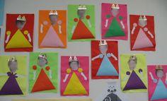 princesse en papier de couleur et photo de l'enfant