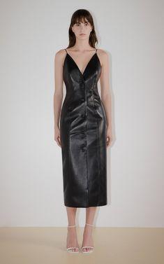 Vegan Leather Button-Down Dress By Matériel   Moda Operandi