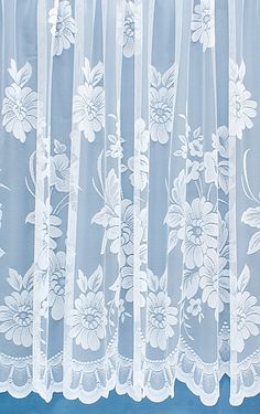 Larling White is a traditionally styled net featuring a large floral design along the bottom scalloped edge. From just £1.06 per metre, Larling is our most reasonably priced net curtain.With the addditional 10% off for the January sale, this curtain is now less than £1 per metre!
