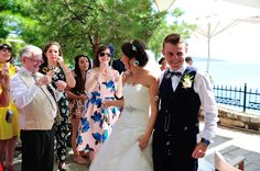 Bubble 'confetti' Skiathos, Greece wedding