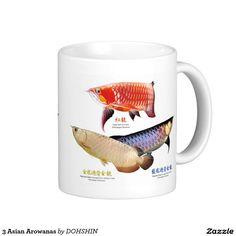 3 Asian Arowanas Classic White Coffee Mug