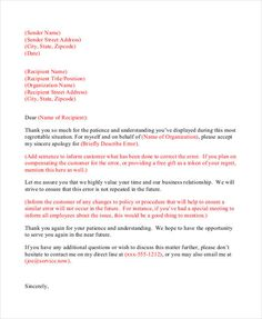 10 Best Apology Letters images in 2013 | Letter sample, Letter