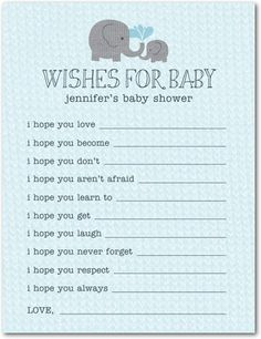 Baby Shower Games Elephant Applique - Front : Slate