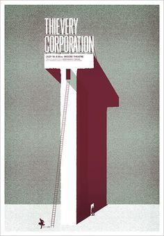 Thievery Corporation gig poster by Andrio Abero