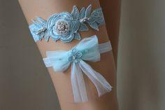 Wedding GarterMint Green Lace Bridal GarterWedding by byPassion