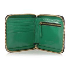 half zip black basket weave wallet by clare vivier :: Roztayger :: Modern Bags & Accessories