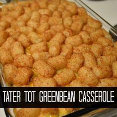 Tater Tot Green Bean Casserole | Craft Dictator