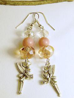 Pink Fairy Earrings with Swarovski Beads by MURPHYSTREASURES, $15.00