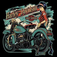 New Motorcycle Drawing Artworks Harley Davidson Ideas Harley Davidson Shirts, Harley Davidson Posters, Harley Davidson Kunst, Harley Davidson Wallpaper, Classic Harley Davidson, Harley Davidson Chopper, Harley Davidson Motorcycles, Triumph Motorcycles, Custom Motorcycles