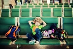 Making your way through a busy airport with little ones in tow can be made easier by considering these tips.
