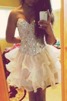 149.89 USD Luxury beads Cute Dresses,Beaded Modest Short Homecoming Dresses,Handmade