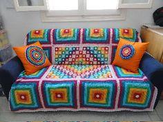 rainbow sofa cover